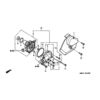 NT650 Deauville water pump