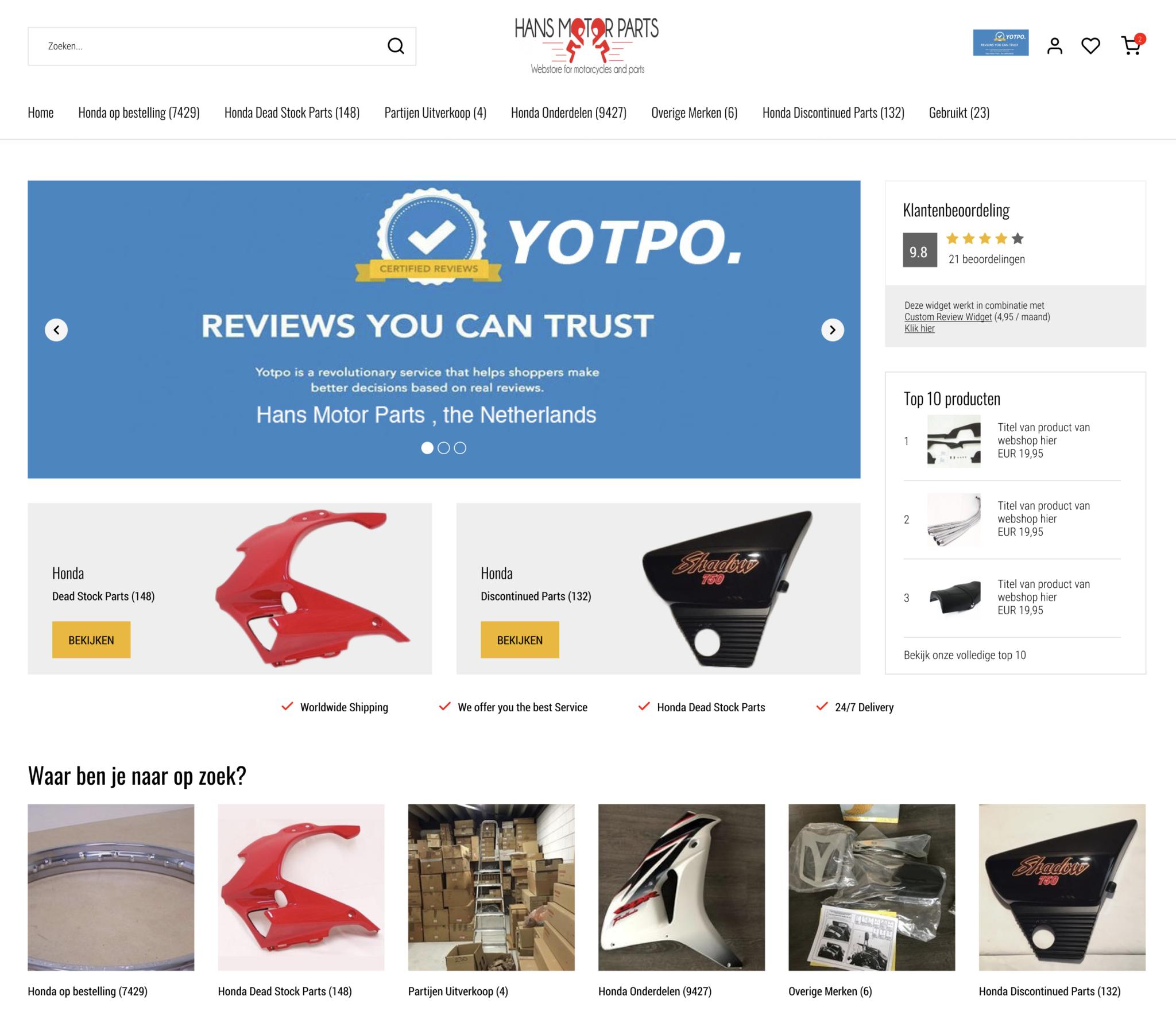 Nieuwe Webshop| Extra aanbiedingen