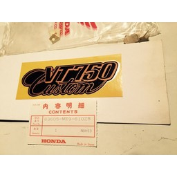 VT700C/VT750C Shadow Zijkap Sticker Honda 1983-1985