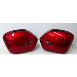 XL1000V Varadero Panniers-Set Complete with Brackets Candy Red R-101CU