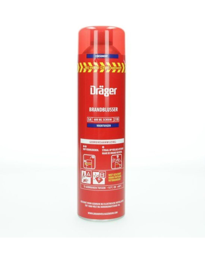 Drager Prymaxx Spray Brandblusser Voertuigen, Vorstbestendig