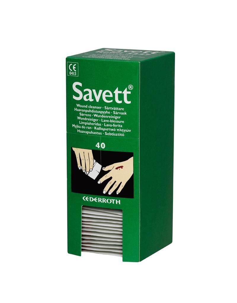 Cederroth Savett navulling 40 stuks wondreinigingsdoekjes