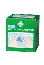 Cederroth Cederroth 2pack Soft Foam Bandage - blauw