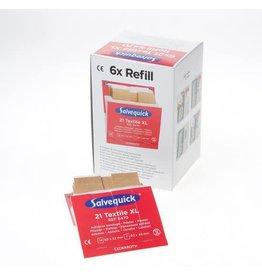 Cederroth Salvequick 6pack - 6444 navulling 40 textiel pleisters
