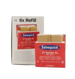 Cederroth Salvequick 6pack - 6470 navulling 21 textiel XL