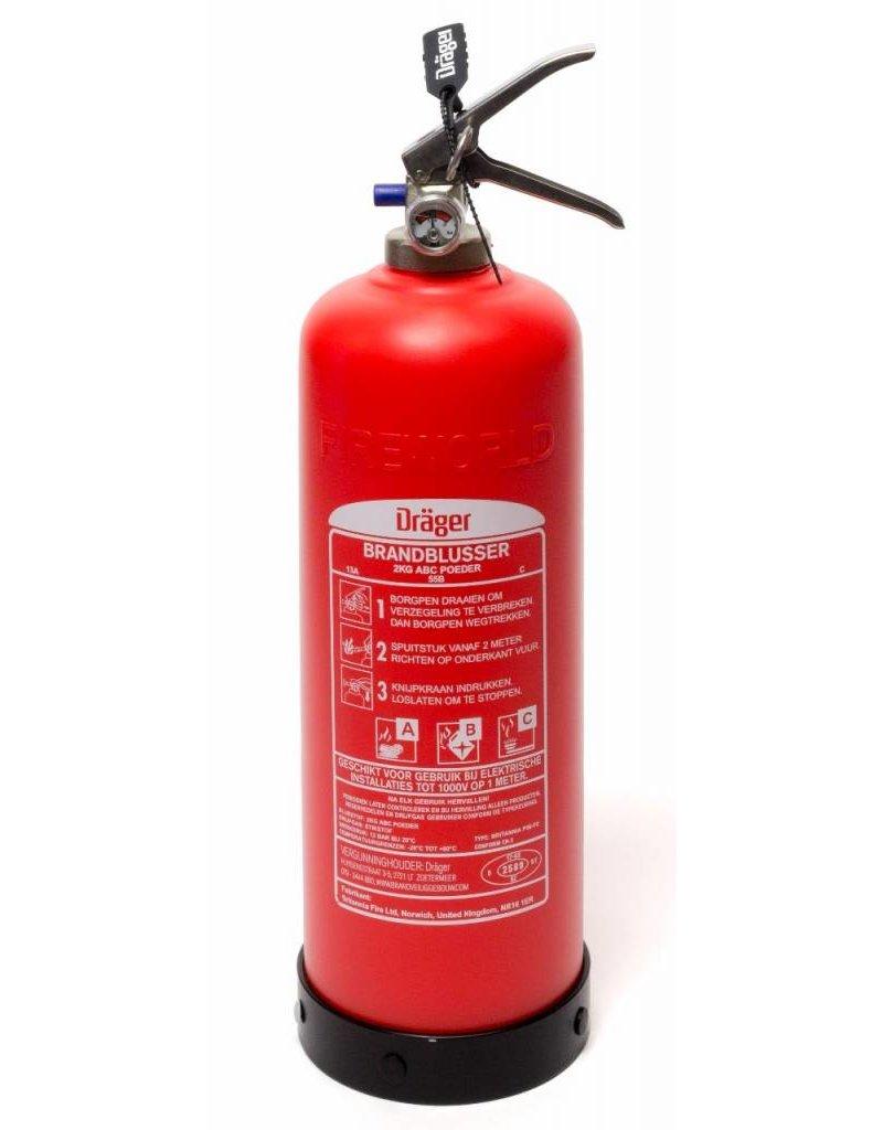 Drager Dräger onderhoudsvrije composiet brandblusser 2 kilo poeder