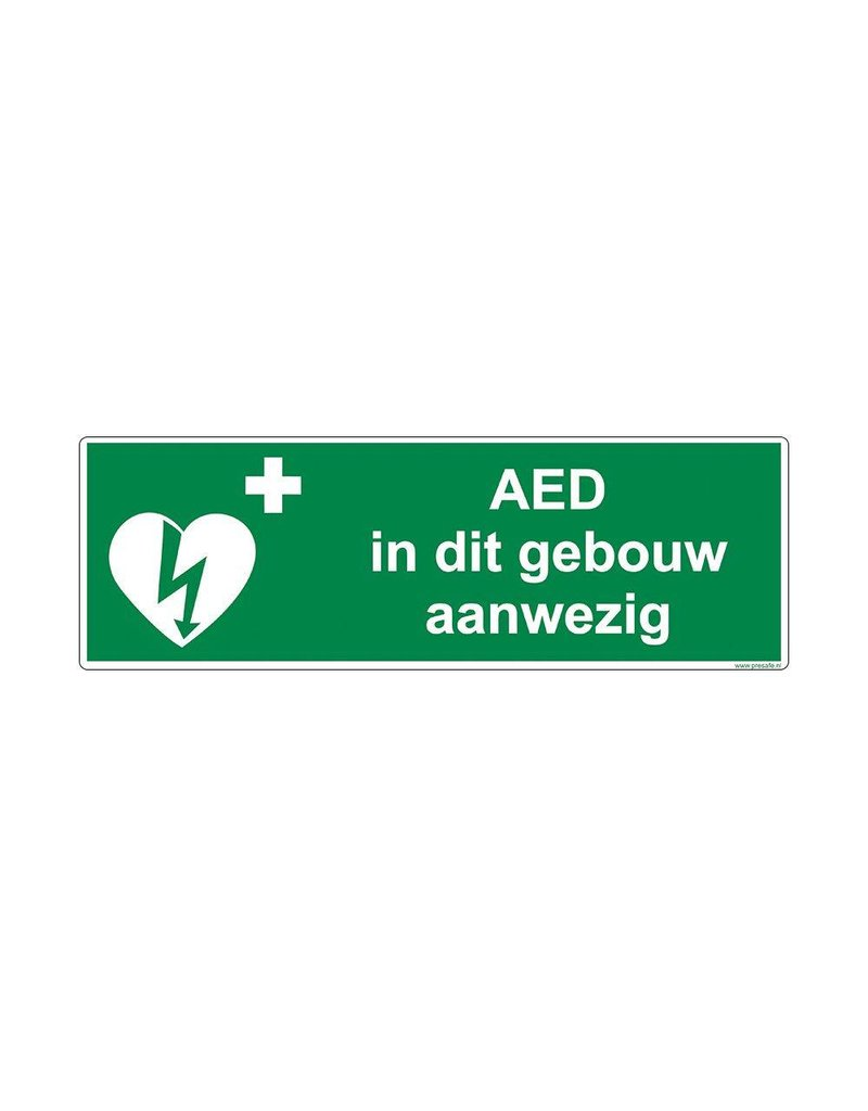 AED aanwezig pictogram