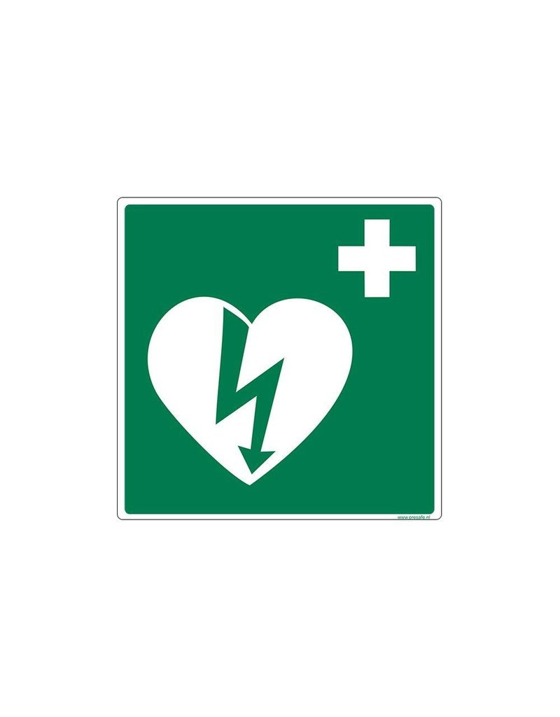 AED pictogram sticker