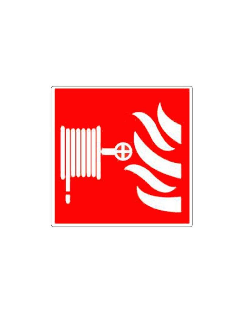 Brandslang met vlammen pictogram (bordje 1mm PP)