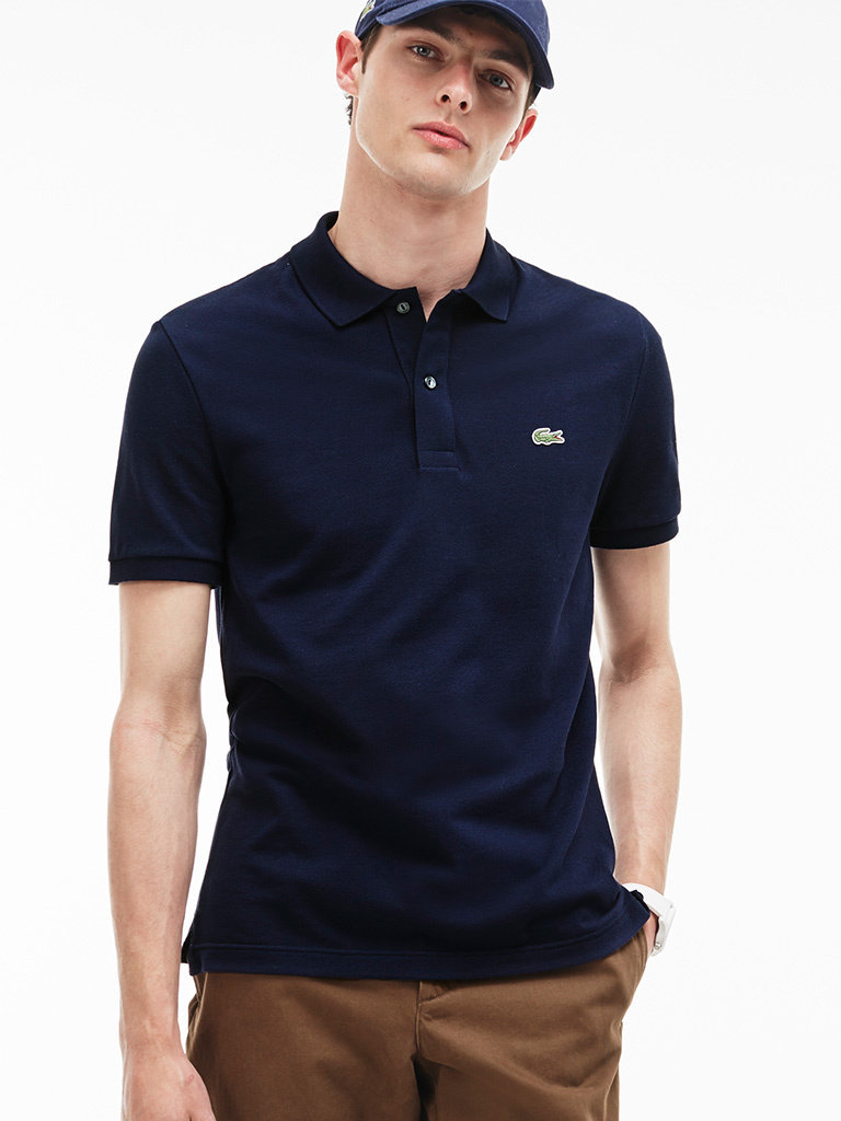 bfdb43ee5f Lacoste Slim Fit Polo Shirt Navy Blue