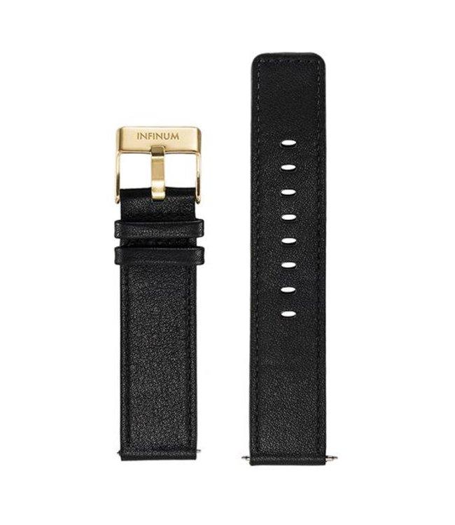 Firmitudo Firmitudo | Black Leather | Gold Buckle
