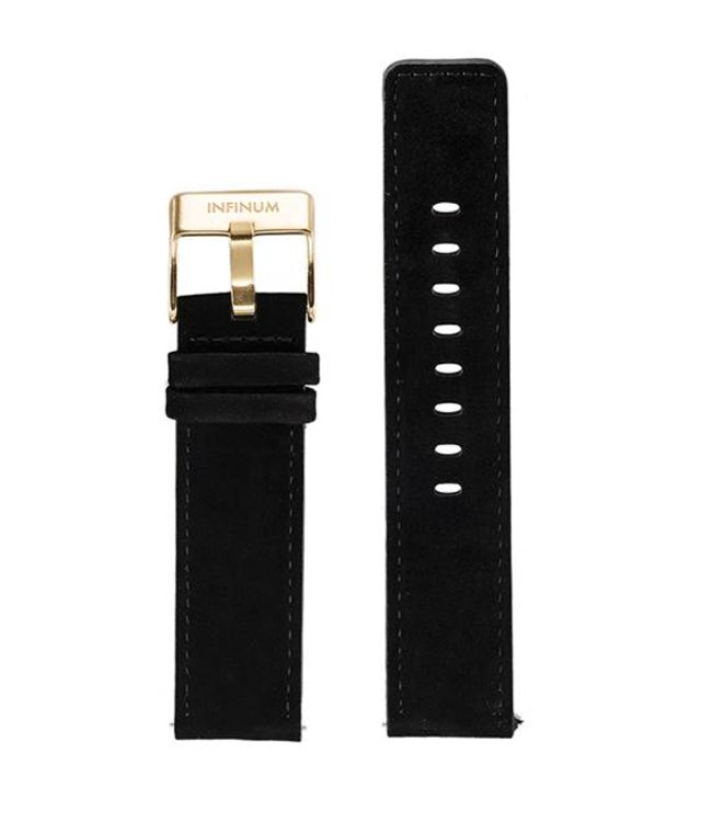 Firmitudo Firmitudo | Black Suede Leather | Gold Buckle