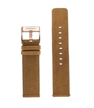 Firmitudo Firmitudo | Brown Suede Leather | Rose Gold Buckle