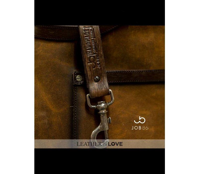 Leren heren schort | Cognac