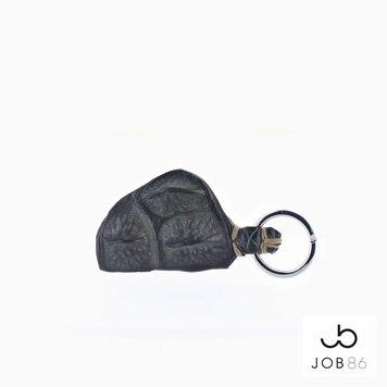 JOB86 Exclusieve sleutelhanger | Krokodillenleer | Grijs