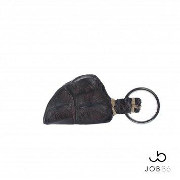 JOB86 Exclusieve sleutelhanger | Krokodillenleer | Bruin