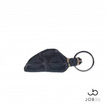 JOB86 Exclusieve sleutelhanger | Krokodillenleer | Blauw