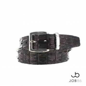 JOB86 Handpainted krokodillen riem | Multicolour