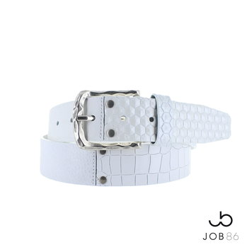 JOB86 Multi leren jeans riem | Wit