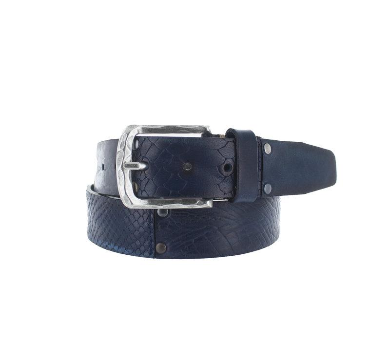 Enzo    Multi jeans riem   Blauw