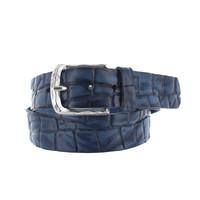 Vito | Blauwe vintage kroko riem