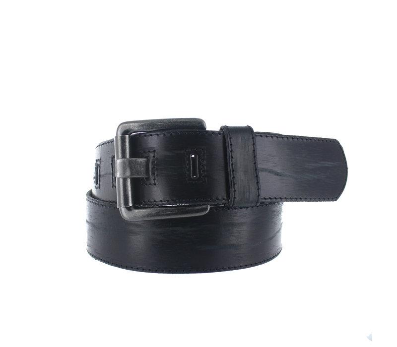 Stefano | Vintage  jeans riem | Zwart