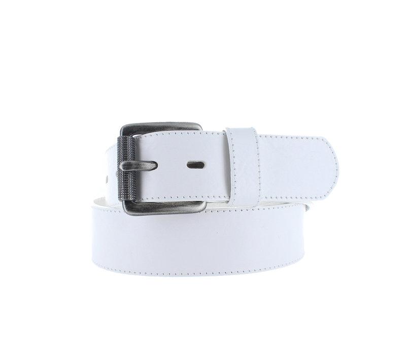 Gianni | Witte heren jeansriem