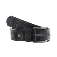 Enrico | Zwarte jeans riem  | Kroko