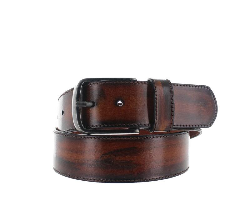 Michäel | Handcrafted jeans riem | Cognac