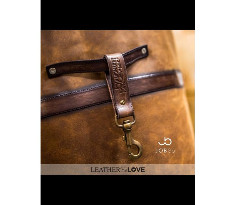 The Butcher | Vintage lederen schort | Cognac