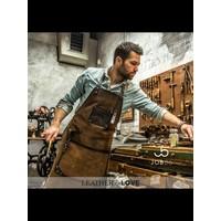 Leren BBQ schort   Kookschort   Cognac