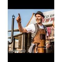 Lederen BBQ schort | Kookschort | Cognac