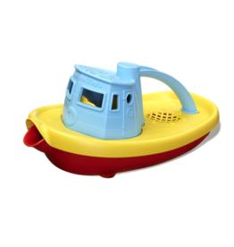 Green Toys Tugboat Blauw