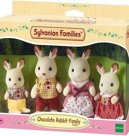 Sylvanian Families Chocolate Rabbit Familie