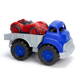Green Toys Truck met raceauto