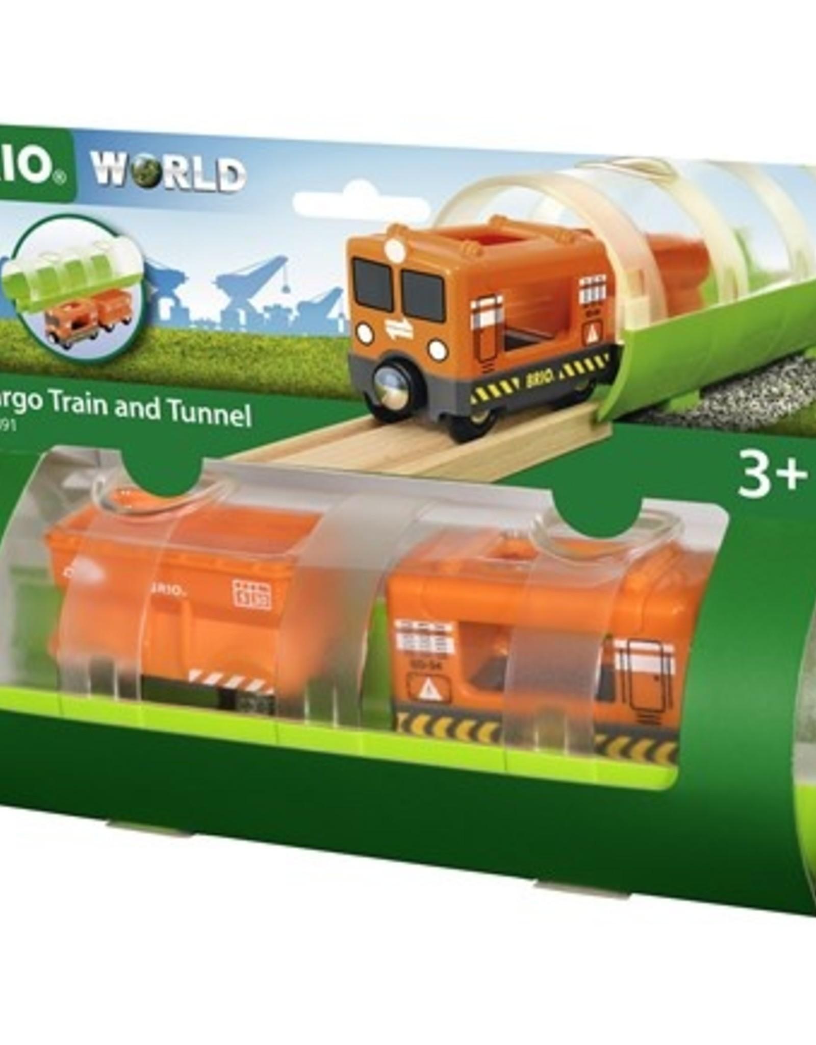 Brio Vrachttrein en tunnel