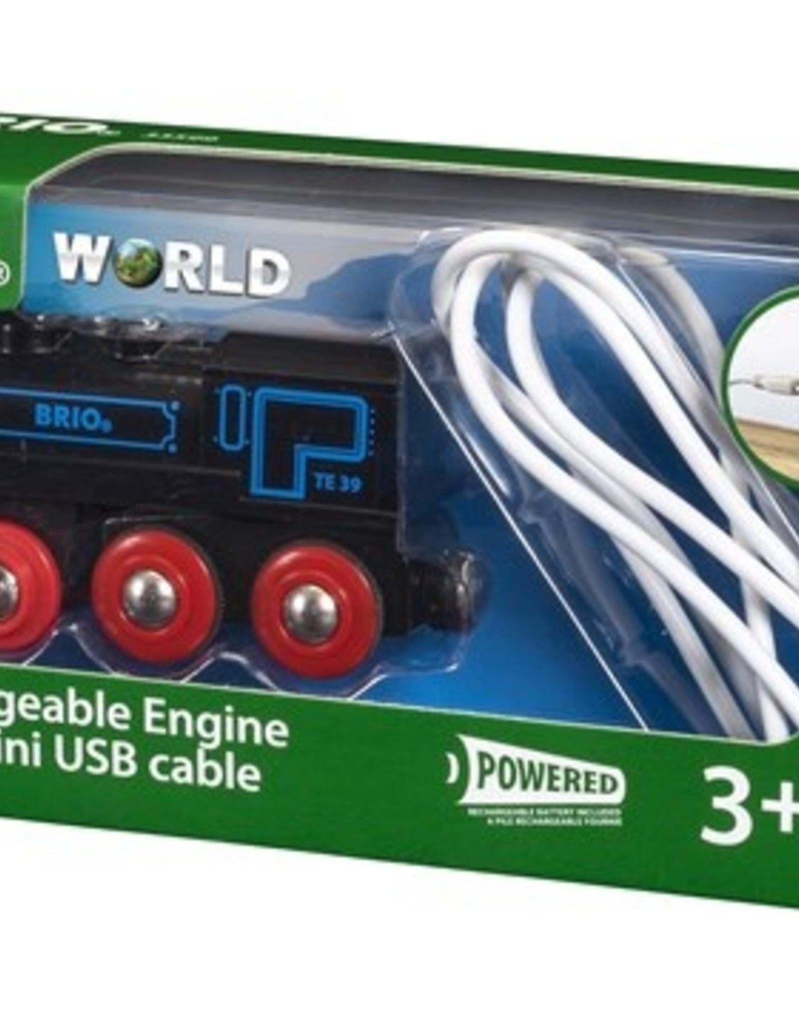 Brio Oplaadbare Locomotief met mini USB-kabel