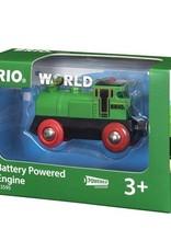 Brio Groene locomotief op batterijen