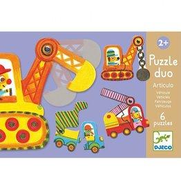 Djeco Duo-puzzel Vervoer