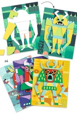 Djeco Reliëf Collage Monsters