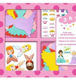 Djeco Creëer Prinses met Stickers