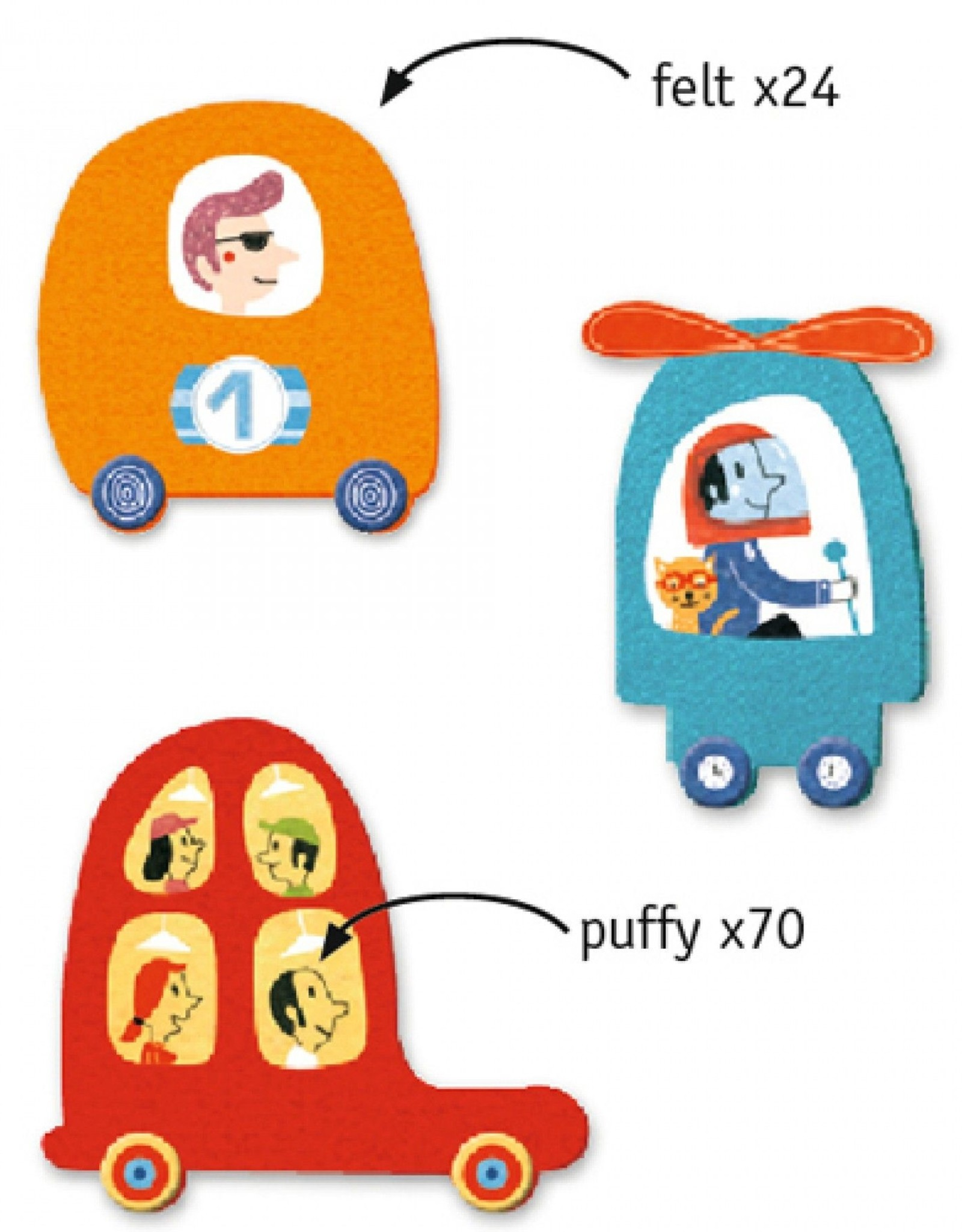 Djeco Creëer Auto met Stickers