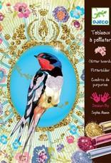Djeco Glitterschilderij Vogels