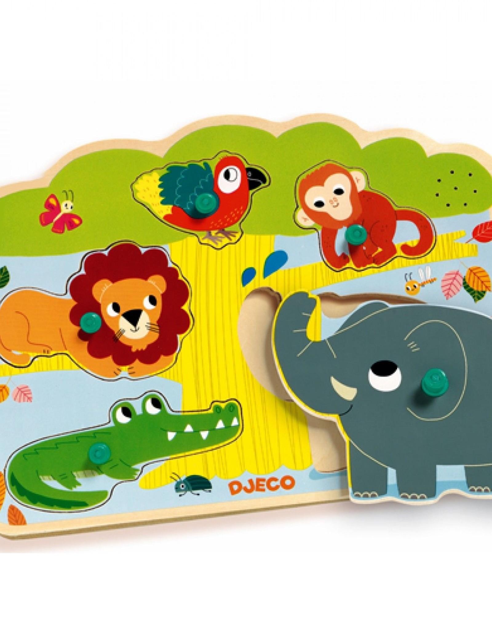 Djeco Geluid Puzzel Jungle