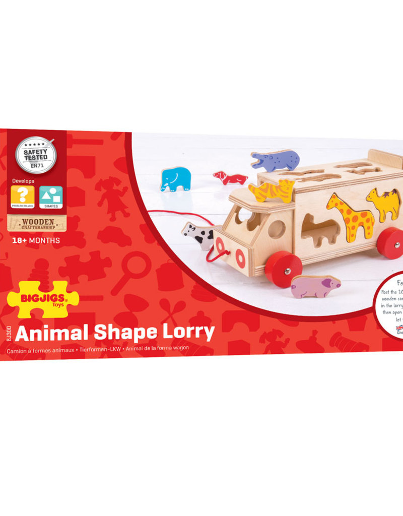 Bigjigs Animal Shape Lorry