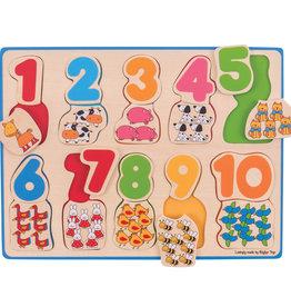 Bigjigs Puzzel Kleur & Nummers 1+