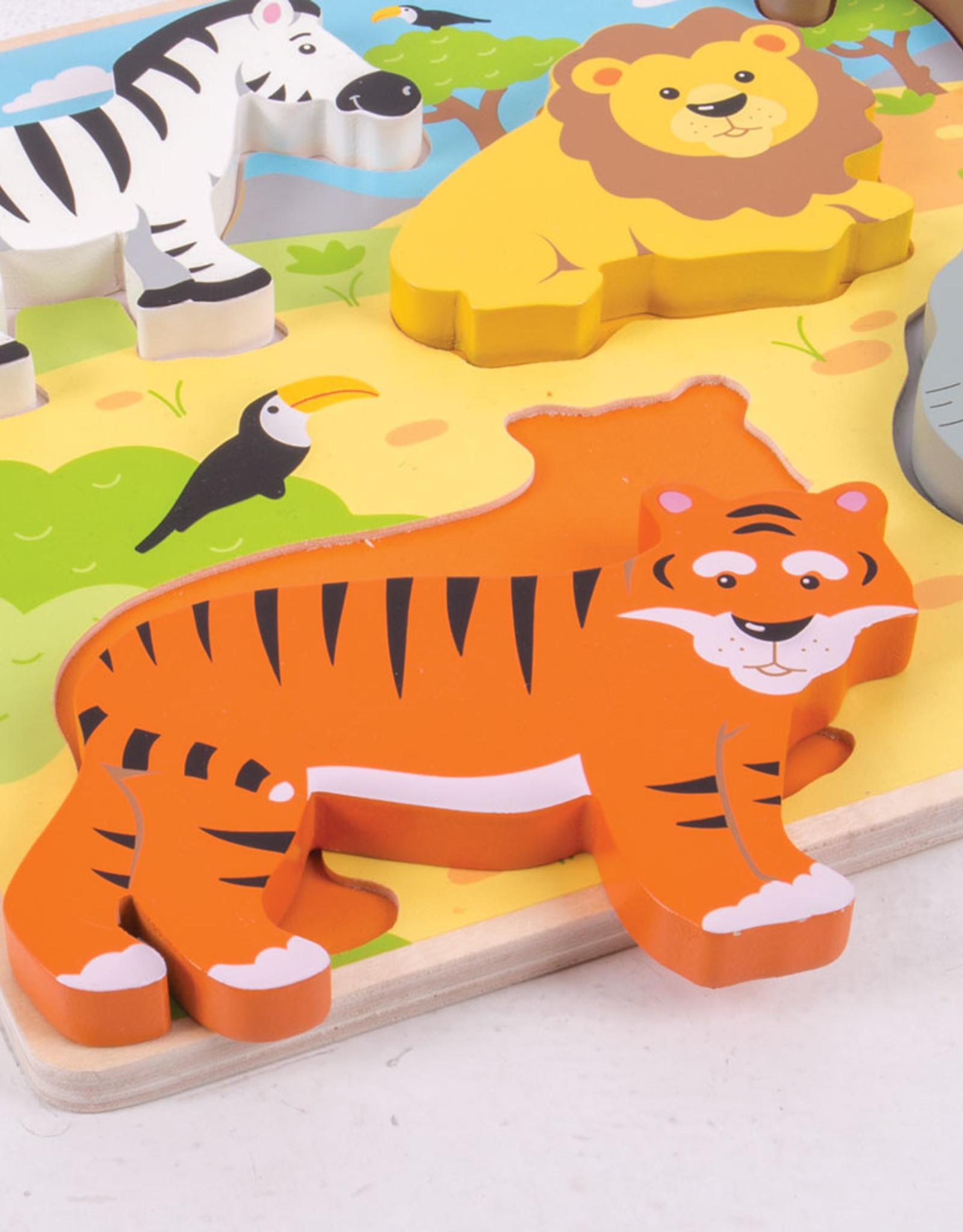 Bigjigs Puzzel Chunky Safari 1+
