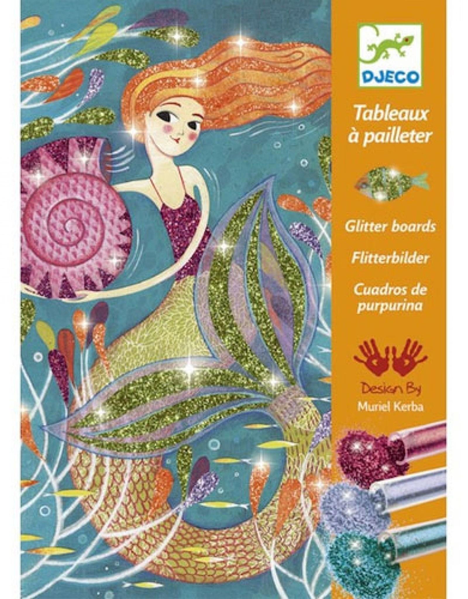 Djeco Glitterschilderij Zeemeermin