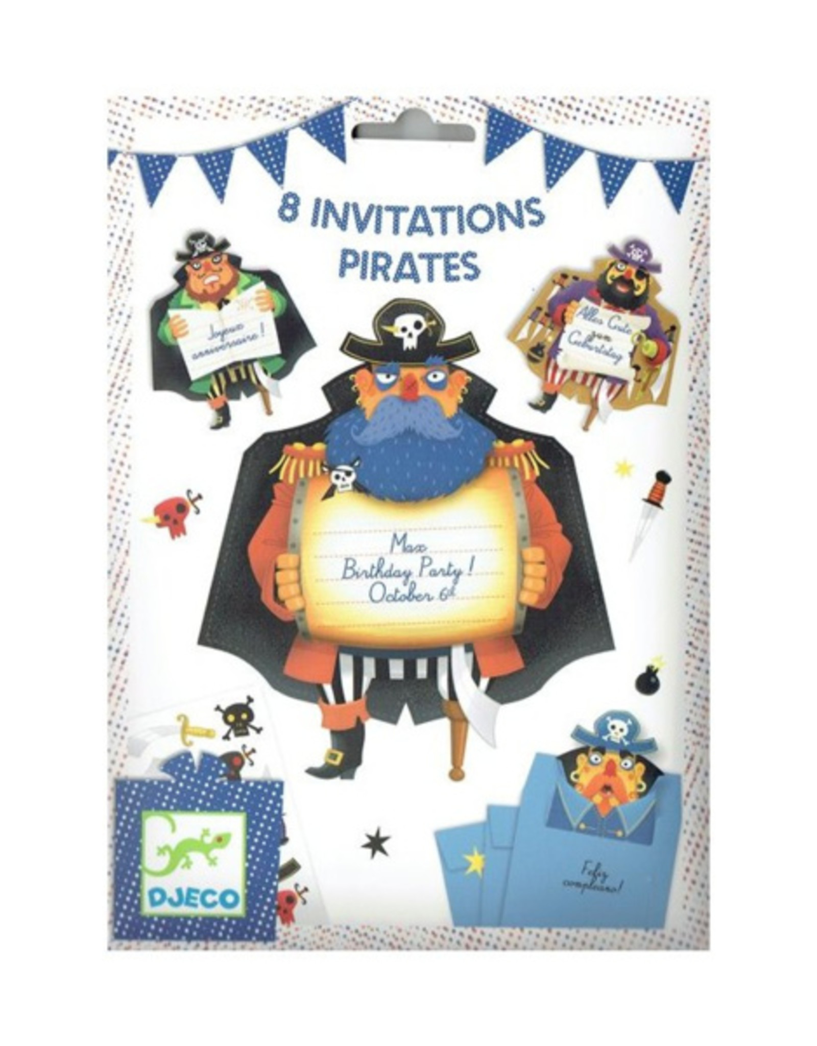 Djeco Uitnodiging Piraat