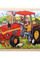 Bigjigs Puzzel Tractor 3+
